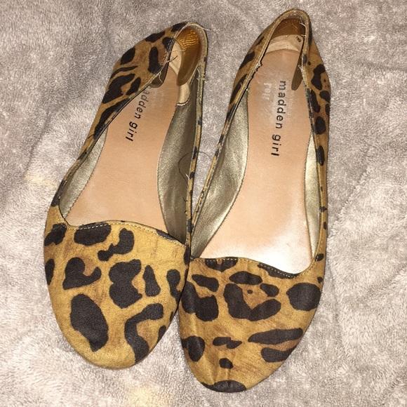 887836835455 Steve Madden Shoes   Leopard Print Flats   Poshmark